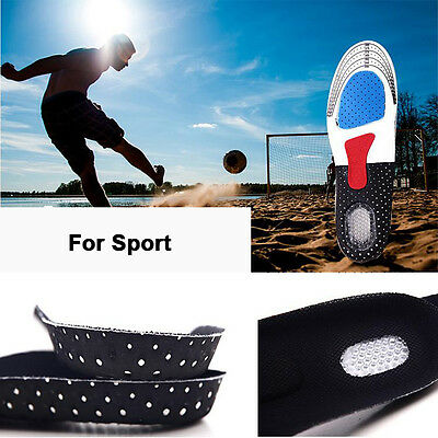 1Pair Women Men Foot Silicone Gel Insoles Pads Orthotic Arch Support Shoe Pad