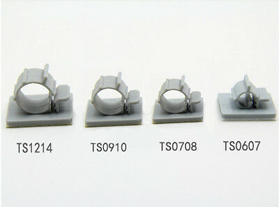Self-Adhesive Nylon Clips Fasteners for Wire, Cable, Conduit, etc Various Size