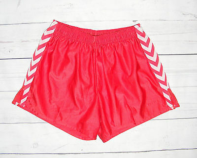 Size S Hummel vintage 80s baggy/loose sprinter/sports shorts shiny red (HG34)