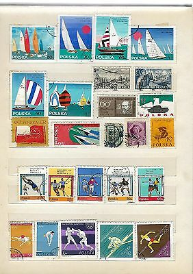 A Collection of Polish Postage Stamps (10 page album)