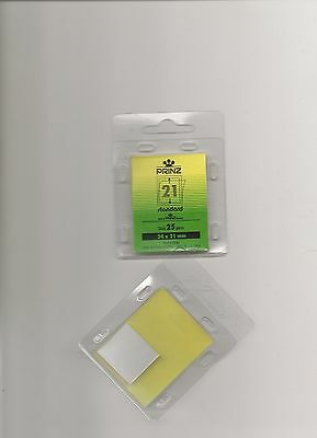 PRINZ STAMP MOUNTS CLEAR 24x21 STRIPS x25 IN PACK