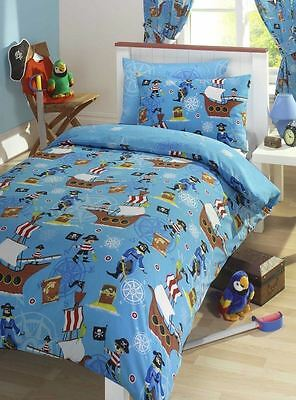 Pirate Ship Treasure Junior Bed Toddler Bed Duvet Cover Set 120cmx150cm