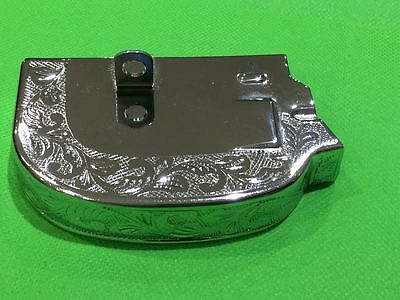 Chrome & Engraved Gear Selector Cover - Vespa PX 200 Disc 1998 Onwards