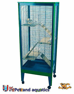 Indoor Tall Chinchilla Rodent Cage, Ferrets, Degu
