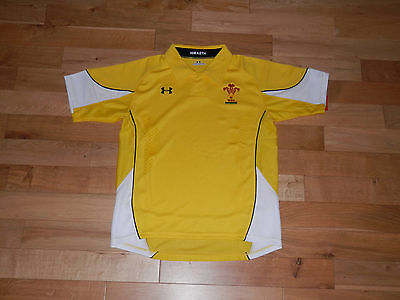 3 x WALES UNDER ARMOUR YELLOW WELSH RUGBY SHIRTS YOUTH XL