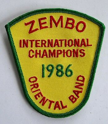 1986 Shrine Masons Freemason Zembo Oriental Band International Champions Patch