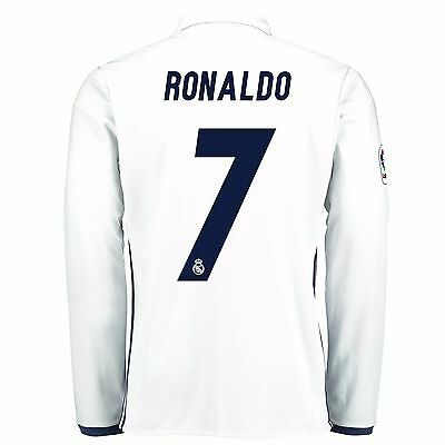 Adults Small Real Madrid Home Shirt 2016/17 Long Sleeve Ronaldo 7 RM3