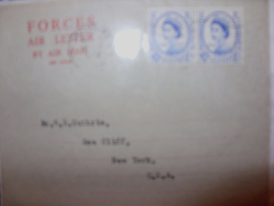 inter parliamentary conference 2x4d on forces airmail 12/9/57 fdi rare
