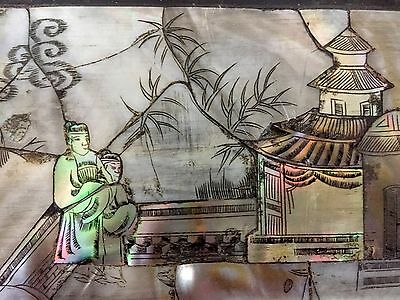 Antique Chinese Box, With Mother Of Perl Inlay