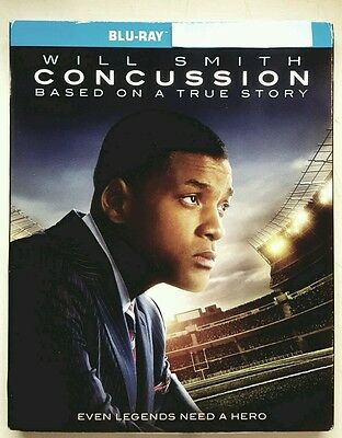 Concussion (Blu-ray, 2016) No Digital With Slipcover