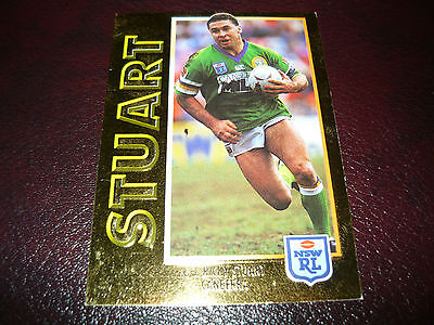 1994 Rugby League Series 1 Embossed Gold G1 Ricky Stuart Canberra Raiders