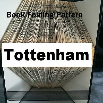 Book folding art Tottenham book folded Pattern for any Fan (pattern only)