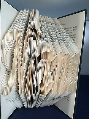 Book folding art pattern word Nana folded book (pattern only)