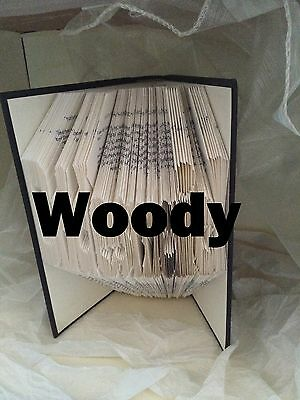 Book folding art pattern Woody folded book (pattern only)