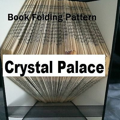Book folding Crystal Palace  book folded Pattern for any Fan (pattern only)