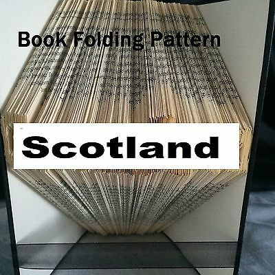 Book folding  Scotland book folded Pattern for any Fan (pattern only)