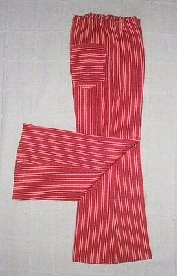 Vintage Stretch Trousers -Age 6 Years Approx - Red/White Stripe- Danish -New