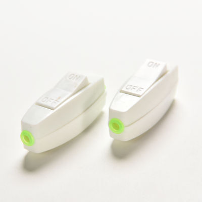 2X Inline ON/OFF Table Lamp Desk Light Cord Rock Switch Control Max 6A 250V