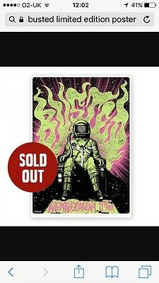 busted Limited edition signed poster art work Wembley collectors item sold out!!