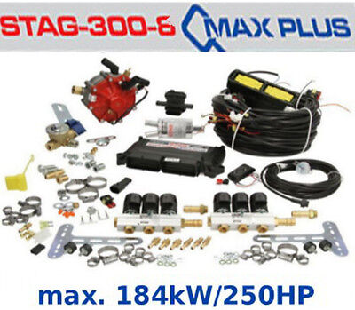 Autogas Conversion kit for 6 cylinders STAG Qmax Plus 184 kW / 250 HP LPG