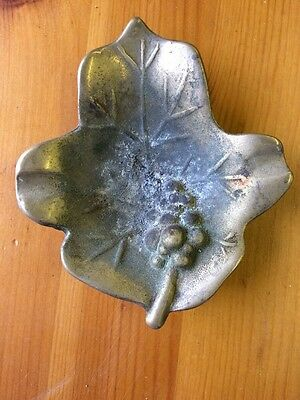 Brass Ashtray Vine Leaf