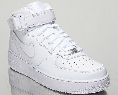 Nike Air Force 1 Mid 07 All White AF1 men lifestyle sneakers NEW 315123-111 cd0fad2827