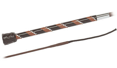 FLECK Dressage Leather Handled RHINESTONE Whip FREE FAST DELIVERY