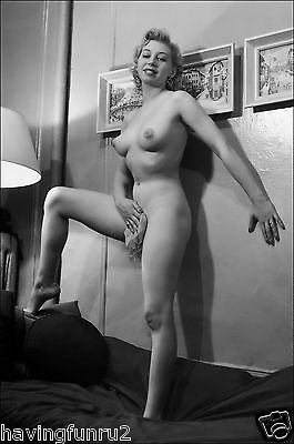 1960s Nude Pose against wall  big breasts Pinup 8  x  10  Photograph