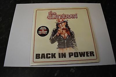 """THE GLITTERATI Back In Power 7"""" Red Vinyl (With Poster/Mint Vinyl/Rare)"""
