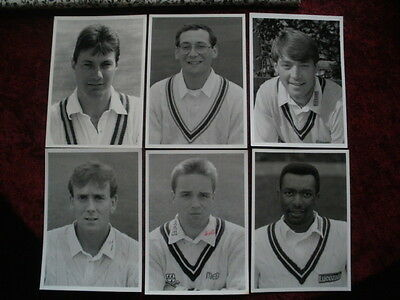 Cricket  - County Players 1990's - 6 Black & White Photographs -