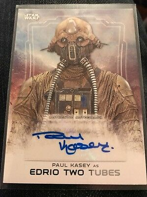 Star Wars Rogue One Series 1 Paul Kasey As Edrio Two Tubes Autograph Card