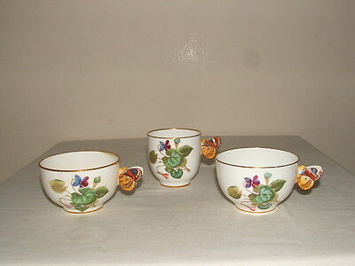 Mintons Rare Vintage Floral Butterfly Handled Cups As Found