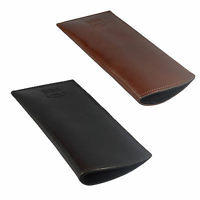 Loren Italy Leather Glasses Sleeve Case, Specs Reading Slim Cover Lined