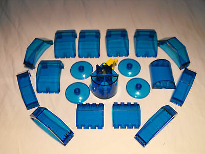 Lego Trans Blue 19 Pieces Translucent Police City Space Windscreen