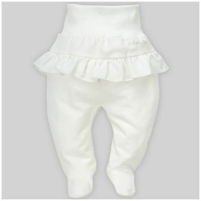 Baby Infant Girl Cute Trousers Leggings Frill Detail Ecru Size 0-9Months