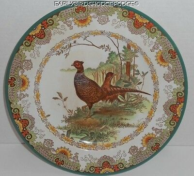"Antique Wedgwood Pheasant Cabinet 10 3/8"" Plate Incised"