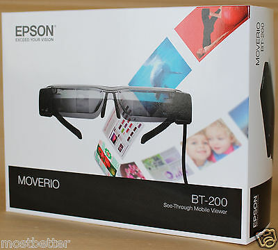 EPSON MOVERIO BT-200 Smart Glass See-Through Mobile Viewer New from Japan