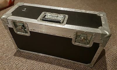 """22""""/12""""/8"""" Metal Flight Case Twin Compartment With Foam Padding"""