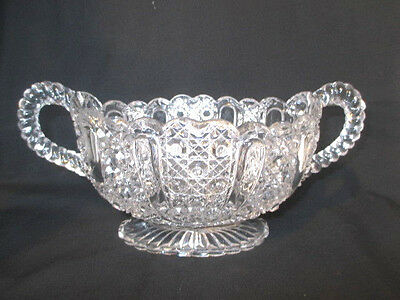 Antique Pressed Glass Two Handled Bowl. Reg No For 1889