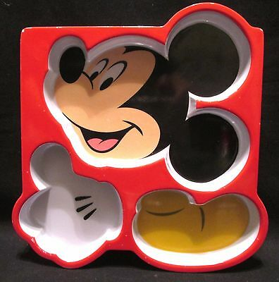 Disney Store Mickey Mouse 3-Way Divided Plate Child's Melamine Plastic