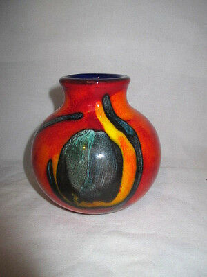 Poole Pottery Peacock Design, Signed.