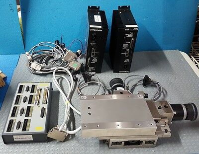 Parker XY Motorized Linear Stage With 2- Microstep Drivers 1- Indexer+Cables