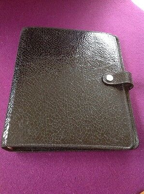Stunning Mulberry Planner In Black Crackle  Leather