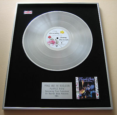 PRINCE AND THE REVOLUTION Purple Rain PLATINUM LP Disc Presentation