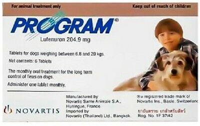 Program Tablets For Dogs 204.9mg 6.8-20kg x 6, Premium Service, Fast Dispatch