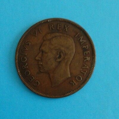 SOUTH AFRICA - 1937 - ONE PENNY (1p) - COIN - KING GEORGE V1-