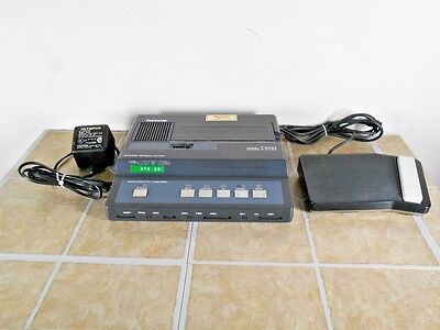 OLYMPUS PEARLCORDER T1010 MICROCASSETTE TRANSCRIBER w/ Adapter & RS12 ft switch