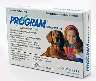 Program Tablets For Dogs 409.8mg 21-40+kg x 6, Premium Service, Fast Dispatch