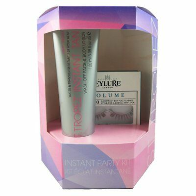St Tropez Instant Tan Wash Off Face & Bodylotion 100ml & False Eyelashes PartyKi