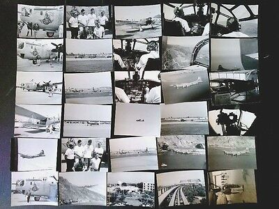 Lot of (37) Vintage B&W Airplanes Pilots Nose Art Aerial Air Show Photos 3x5